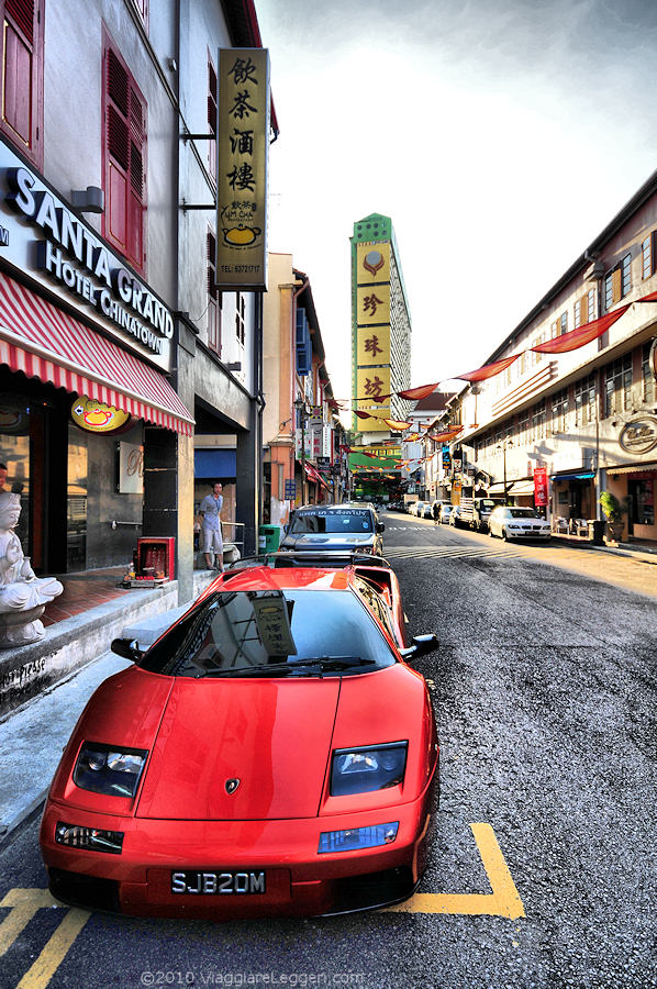 Lamborghini a Chinatown, Singapore